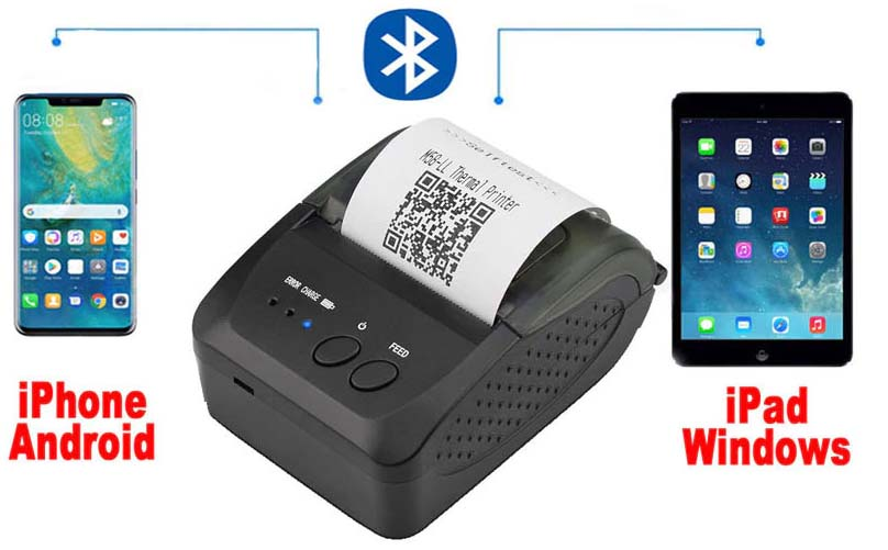 Thermal Bluetooth Portable android tablet mobile Pos printer